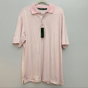 Bobby Jones | Light Pink Striped Men's Golf Polo
